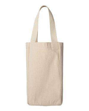 Liberty Bags Napa Two-Bottle Wine Canvas Tote Bag - 1726
