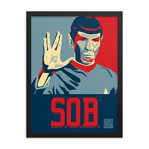 Sons of Boston Leonard Nimoy Wall Print
