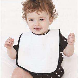 Rabbit Skins Infant Terry Contrast Trim Infant Bib - 1003