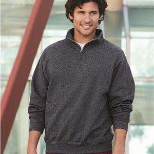 Jerzees Men's Cadet Collar 1/4-Zip Sweatshirt - 995MR