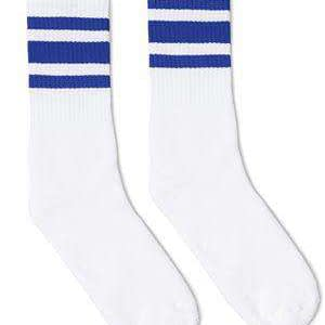 SOCCO USA-Made Striped Crew Socks - SC100