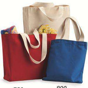Bayside USA-Made Jumbo Canvas Tote Bag - 600