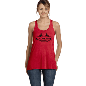 Ladies Causeway Bridge Flowy Racerback Tank