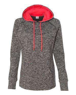 J America Women's Fleck Fleece Hoodie Sweatshirt - 8616