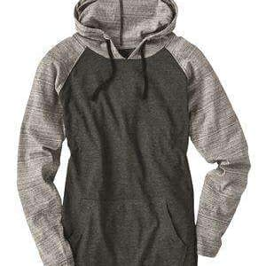 Burnside Men's Raglan Pocket Hoodie Sweatshirt - 8127