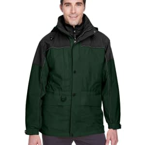 North End Men's 3-in-1 Two-Tone Hooded Parka - 88006