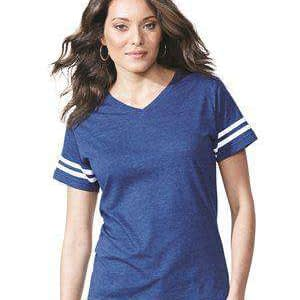 LAT Women's Fine Jersey Football V-Neck T-Shirt - 3537