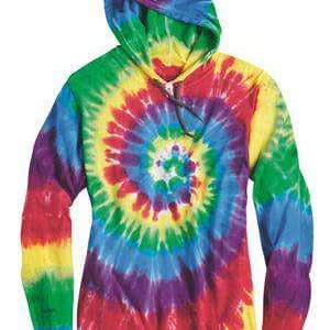 Dyenomite Men's Tie-Dye Long Sleeve Hoodie T-Shirt - 430VR