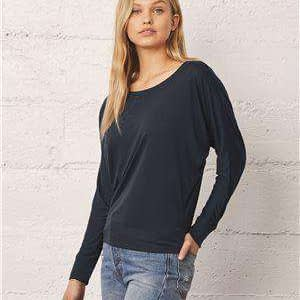 Bella + Canvas Women's Flowy Dolman Long Sleeve T-Shirt - 8850