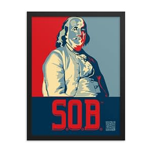 Big Ben Franklin Son of Boston Wall Print