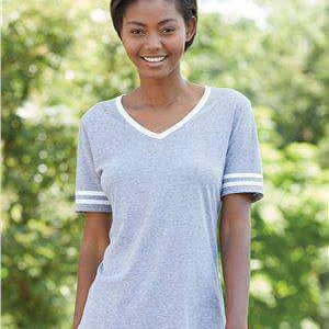 Jerzees Women's Varsity Tri-Blend V-Neck T-Shirt - 602WVR