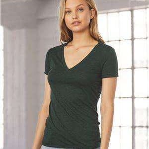 Bella + Canvas Women's Tri-Blend Deep V-Neck T-Shirt - 8435