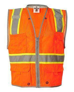 ML Kishigo Men's Six-Pocket Full-Zip Safety Vest - 1511
