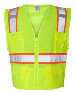 ML Kishigo Men's Mesh-Back Solid Front Safety Vest - 1164