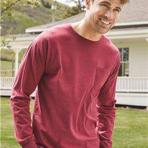 Hanes Men's Pocket Long Sleeve T-Shirt - GDH250
