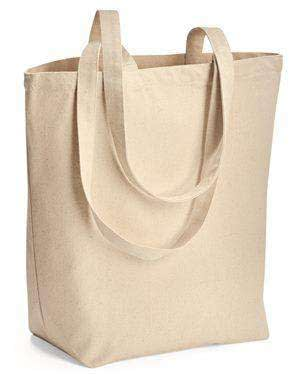 Liberty Bags Large Gusseted Canvas Tote Bag - 8866