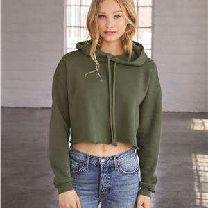 Bella + Canvas Women's Crop Hoodie Sweatshirt - 7502