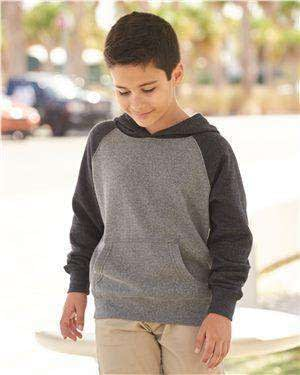 Independent Trading Youth Raglan Hoodie Sweatshirt - PRM15YSB